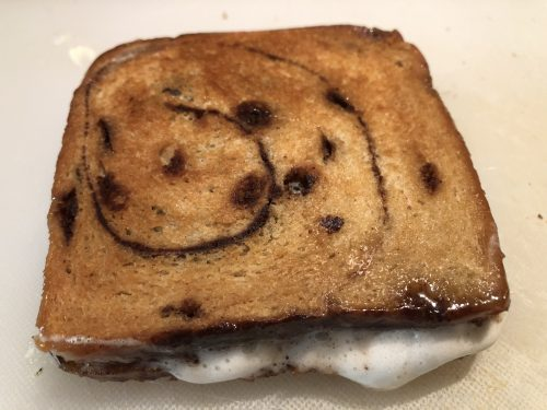 cooked s'mores sandwich