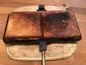 cooked sandwiches, a little crispy