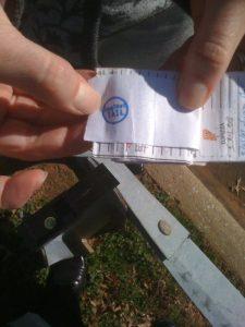 showing stamp on geocache log