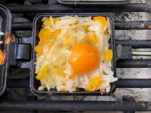 egg in nest ready to cook