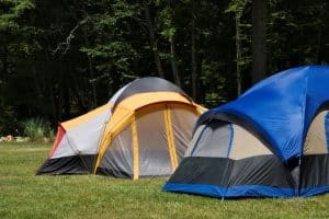two tents ready for camping