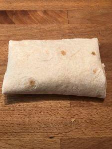folded chicken chimichanga